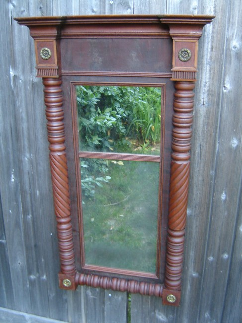 Sheraton New York State Split Panel Mirror Crow Haven Restorations
